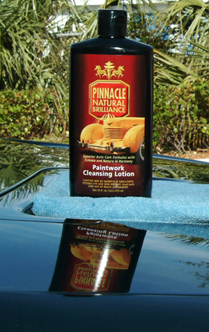 Pinnacle Paintwork Cleansing Lotion is a fine polish used to clean and perfect the paint before wax application.