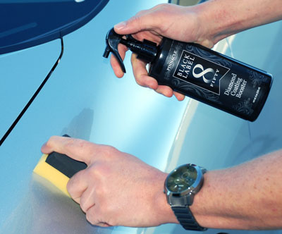 Black Label Diamond Coating Booster adds gloss and slickness to your coated vehicle
