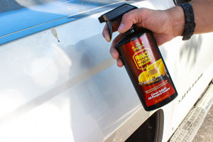 Use Pinnacle Citrus Splash All Purpose Cleaner to remove staining on your vehicle's exterior!