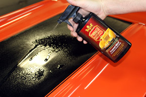 Spray Pinnacle Crystal Mist directly onto the surface of the vehicle you are detailing.