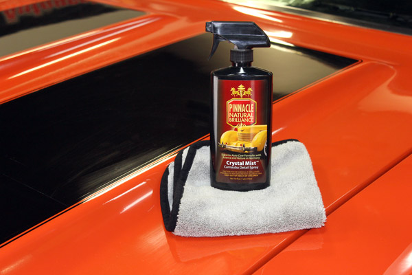 Pinnacle Crystal Mist boosts the finish of any color vehicle, leaving the surface clean, shining, and radiating a warm carnauba glow!