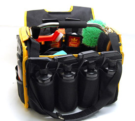 The Pinnacle Detailer S Bag Has Multiple Exterior Pockets For Products And Tools