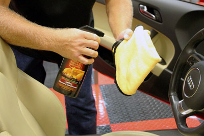 Pinnacle Leather Cleaner & Conditioner removes body oil and restores the soft supple feel of your leather