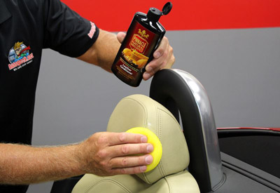 Then apply Pinnacle Leather Conditioner using a foam applicator