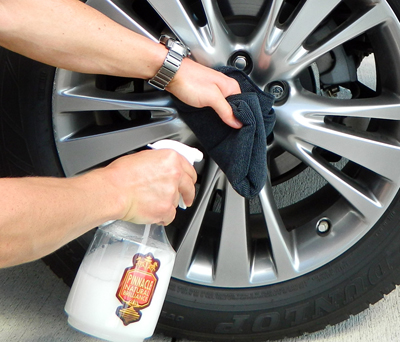 Pinnacle Liquid Crystal Waterless Wash Concentrate with Carnauba can be used on all exterior surfaces!