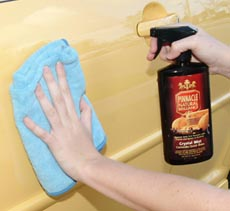 Mist your clean vehicle with Pinnacle Crystal Mist Detail Spray after washing to enhance the shine and eliminate any remaining water droplets.