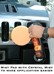Use Pinnacle Crystal Mist as a pad lubricant prior to polishing your vehicle with a Porter Cable 7424.