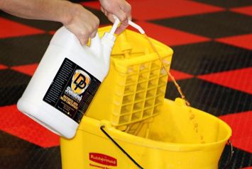 Keep your RaceDeck Garage Floor looking great with Detailer's Waterless Auto Wash!