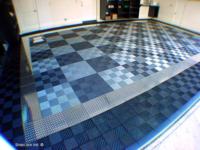 Racedeck Pro Diamond Plate Floor Tiles Polished Aluminum Garage Flooring