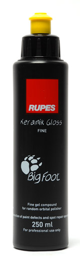 Rupes Keramik Polish is the third step in the Big Foot Polishing System