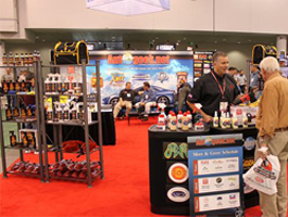 Autogeek's booth at SEMA 2009.