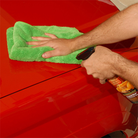 The Shamrock 750 Microfiber Towel is well-suited for quick detailing.