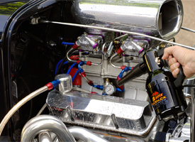 Dry your engine after detailing to avoid water spots.