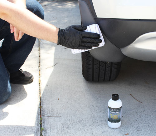 Apply Solution Finish Fusion Grey Trim Restorer with a microfiber applicator for long lasting protection!