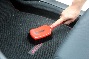 SONAX Intensive Cleaning Brush is gentle enough for upholstery