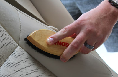 Use the SONAX Leather Brush for all your interior care needs