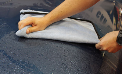 SONAX Microfiber Drying Towel can absorb up to ten times its weight in water