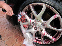 Towel dry clean wheels with a soft microfiber towel.