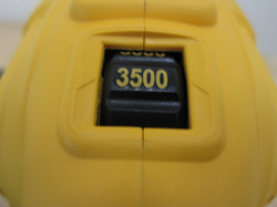DeWalt DWP849 Rotary Polisher's speed dial ends at 3500 RPM.