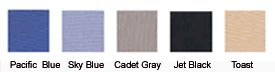 Choose from five attractive colors.