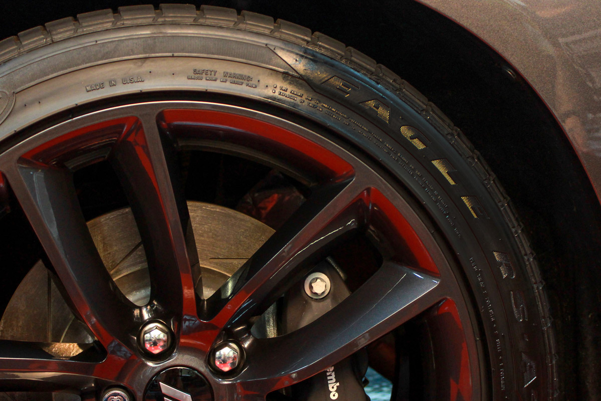 Sit back and admire the dark, satin finish and durable protection DP Tire Coating provides!