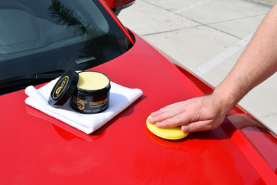 Trademark wax applies easily