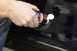 After cleaning your trim, simply apply 303 Automotive Trim Restorer & Protectant with the provided applicator