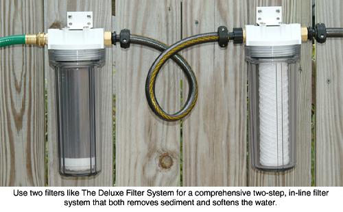 Deluxe clean water filter kit 2 step water filter system for Garden water filter system