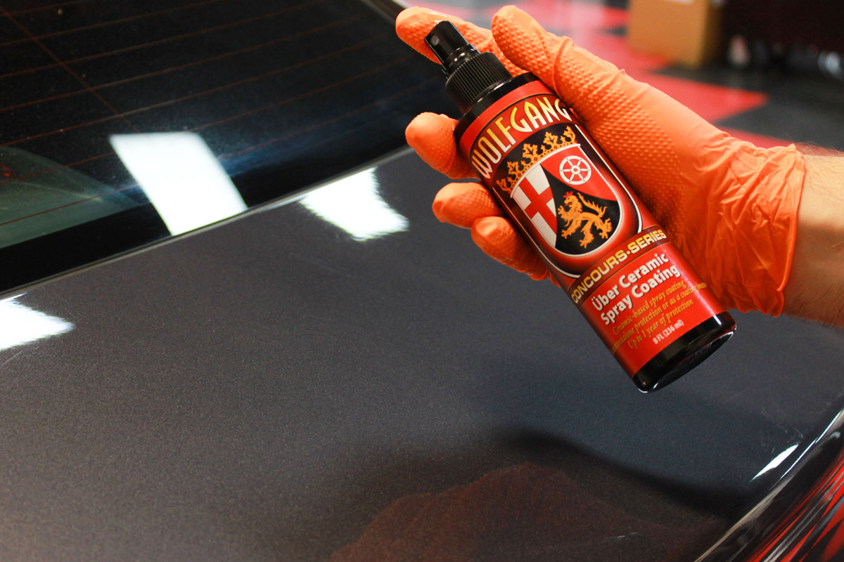 Just 2-3 pumps of Wolfgang Uber Ceramic Spray Coating will be enough to provide durable protection to an entire 2' x 2' section!