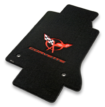 Licensed logos and multiple thread colors are available for Lloyd Verloutex floor mats.