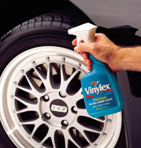 Vinylex works on tires, moldings, rubber trim, vinyl seats, dash, and more!