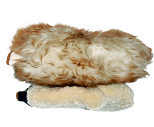 The Dodo Juice Supernatural Wash Mitt is thicker than a standard wool wash mitt.