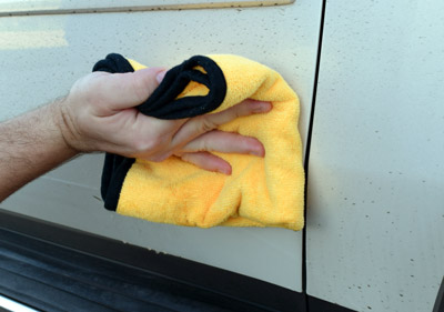 Wipe clean using a soft towel