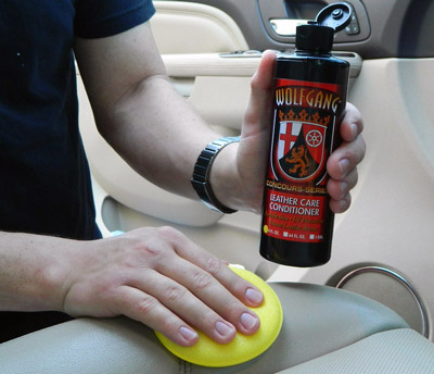 Wolfgang Leather Care Conditioner makes leather feel soft and supple