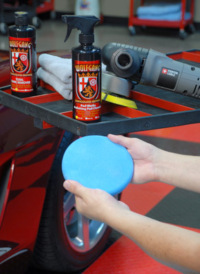 Wolfgang Pad Werks Polishing Pad Cleaner destroys polish and wax residue