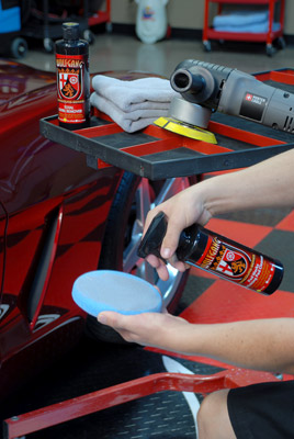 Wolfgang Pad Werks Polishing Pad Cleaner removes caked on polish and wax residue from all pad types