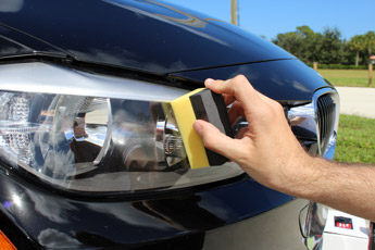 Apply to headlight lenses