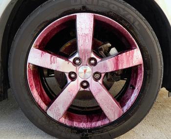 Wolfgang Uber Wheel Cleaner changes colors as it removes brake dust!