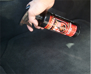 Wolfgang Carpet Restorer removes spots and stains from carpet and upholstery.