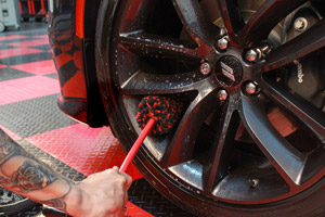 DP Dual Action Tire & Wheel Cleaner will easily break up rooted contamination on your wheels!