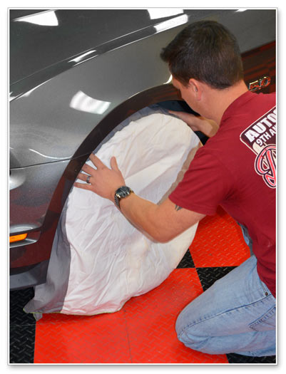 Heavy Duty Canvas Wheel Maskers are easy to install
