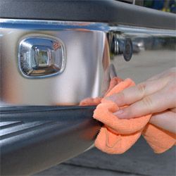 Buff off Menzerna Polishing Cream to leave a bright, reflective shine.