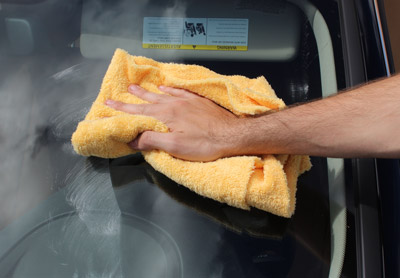 Wipe away residue with a soft towel