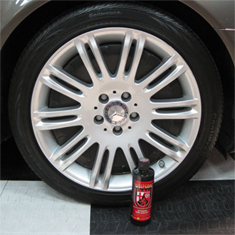 Wolfgang Exterior Trim Sealant enhances wheels and tires with a clear, protective coating.