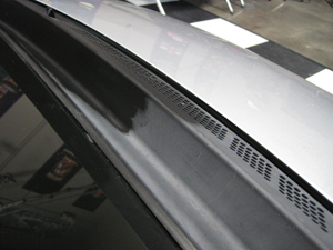 Wolfgang Exterior Trim Sealant before and after on wiper cowl.