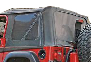 The Flitz Jeep Window & Plastic Restoration Kit restores clear plastic vinyl windows on soft top Jeep Wrangler models.