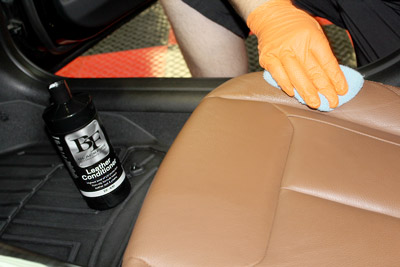 Deep condition your leather with BLACKFIRE Leather Conditioner!