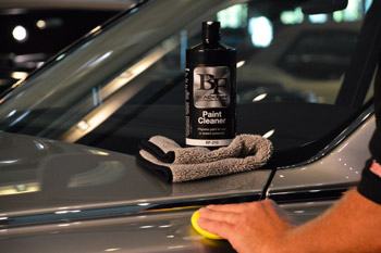BLACKFIRE Paint Cleaner applied by hand.