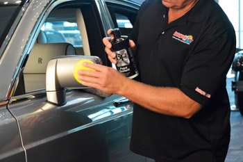 BLACKFIRE Paint Sealant applied with a FLEX XC 3401 VRG Orbital Polisher.