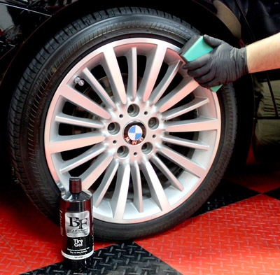 BLACKFIRE Tire Gel protects and restores tires.